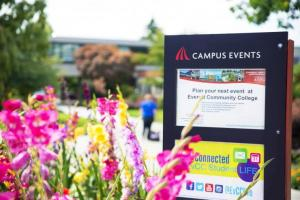 event signage on campus