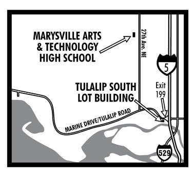 Marysville Arts and Technical High School Map