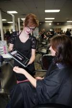 iPads in use at Cosmetology