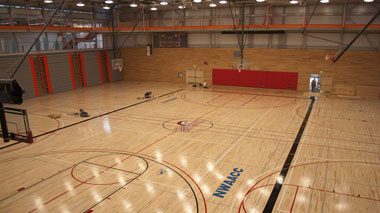 Student Fitness Center Basketball Court 2