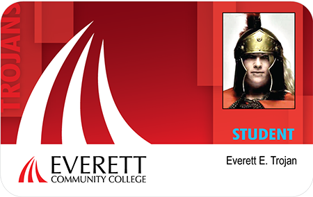image of EvCC student ID card